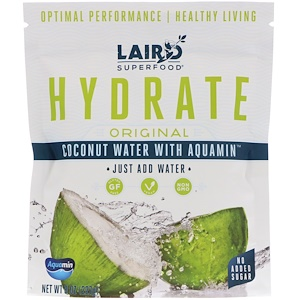 Coconut Water + Aquamin, Original, 8 oz (227 g), Laird Superfood, Hydrate