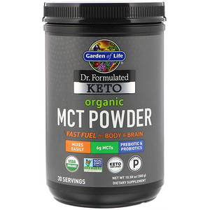 Keto Organic MCT Powder, 10.58 oz (300 g), Garden of Life, Dr. Formulated