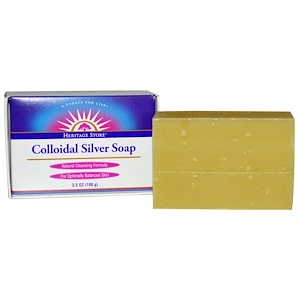 Colloidal Silver Soap, 3.5 oz (100 g), Heritage Store