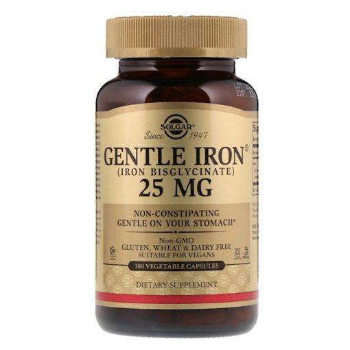 Gentle Iron, 25 mg , 180 Vegetable Capsules, Solgar