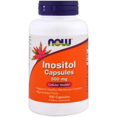 Inositol Capsules, 500 mg, 100 Veg Capsules, Now Foods