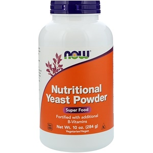 Nutritional Yeast Powder, 10 oz (284 g), Now Foods