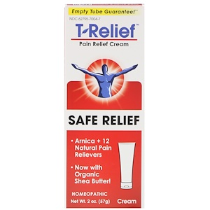 Pain Relief Cream, T-Relief, Safe Relief, 2 oz (57 g), MediNatura