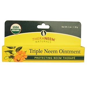 Triple Neem Ointment, Neem Therapé, 1 oz (30 g), Organix South, TheraNeem Naturals