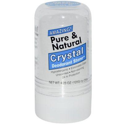 Crystal Deodorant Stone, Pure & Natural, 4.25 oz (120 g), Thai Deodorant Stone