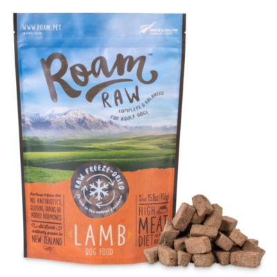 Lamb, Dog Food, Raw Freeze Dried, 450gm, Roam