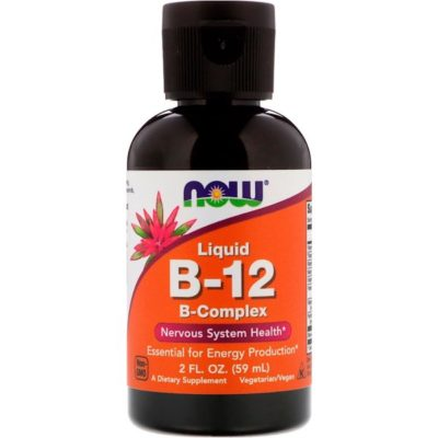 B-12, Liquid, B-Complex, 2 fl oz (59 ml), Now Foods