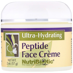 Peptide Face Creme, Ultra-Hydrating, 2 oz (57 g), NutriBiotic