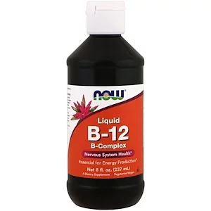 B12, Liquid, B-Complex, 8 fl oz (237 ml), Now Foods