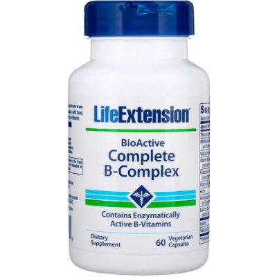 Complete B-Complex, BioActive, 60 Vegetable Capsules, Life Extension