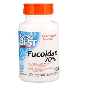 Fucoidan 70%, 300 mg, 60 Veggie Caps, Doctor's Best