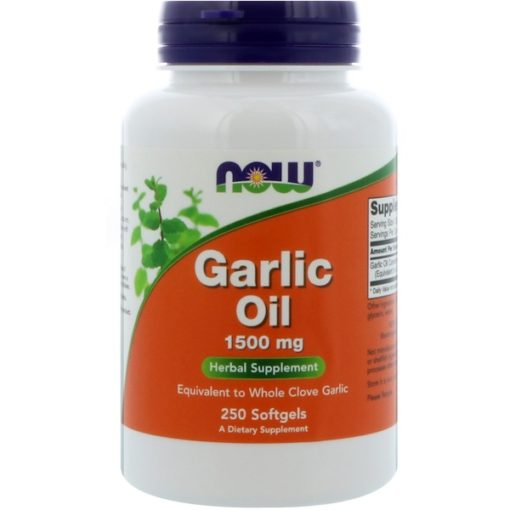 Garlic Oil, 1500 mg, 250 Softgels, Now Foods