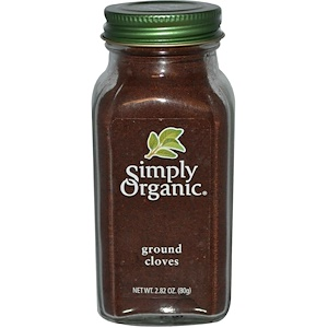 Ground Cloves, 2.82 oz (80 g), Simply Organic