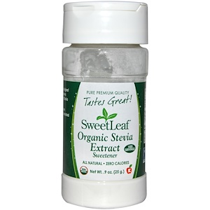 Stevia Extract, Organic, Sweetener, .9 oz (25 g), Wisdom Natural, SweetLeaf