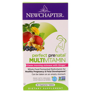 Perfect Prenatal Multivitamin, 96 Tablets, New Chapter