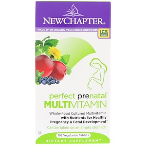 Perfect Prenatal Multivitamin, 192 Vegetarian Tablets, New Chapter