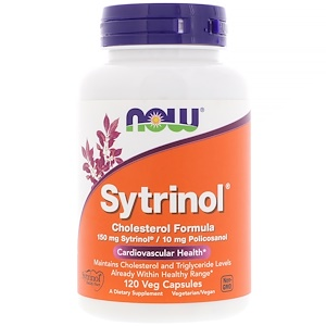 Sytrinol, Cholesterol Formula, 120 Vcaps, Now Foods