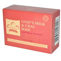 Goat's Milk + Chai Soap, with Rose extracts, 5 oz (141 g), Nubian Heritage